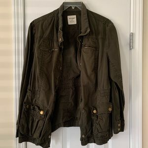 Old navy army green military style jacket
